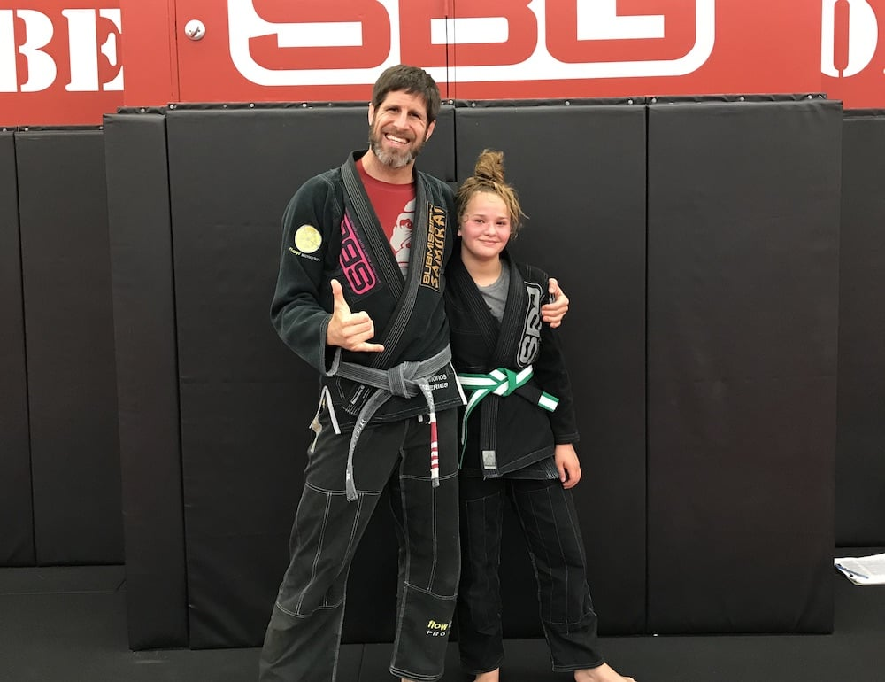 Coach Rory with one of his BJJ Students