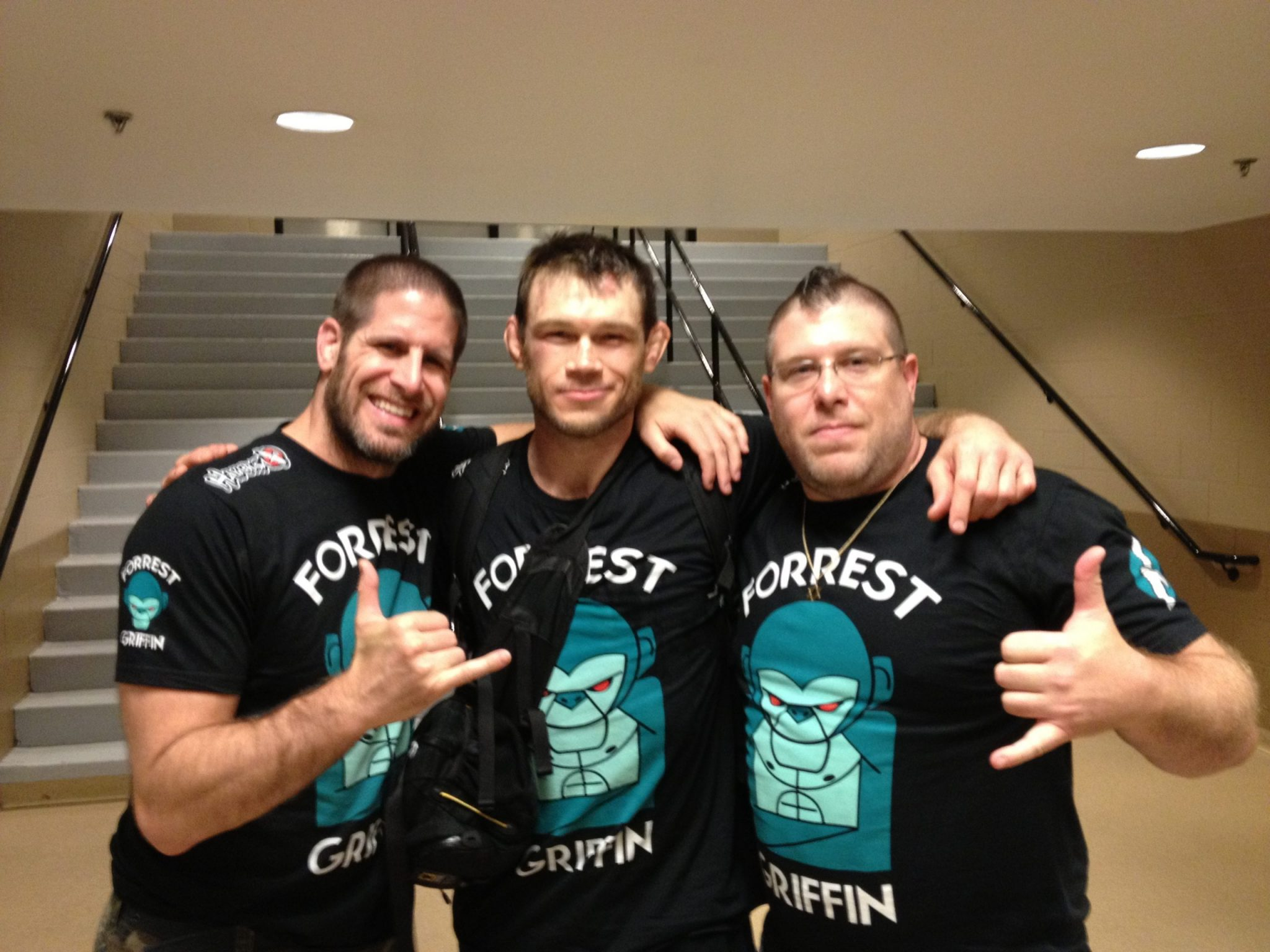 Forrest Griffin (UFC Champion) with Rory & Adam Singer of SBG Athens